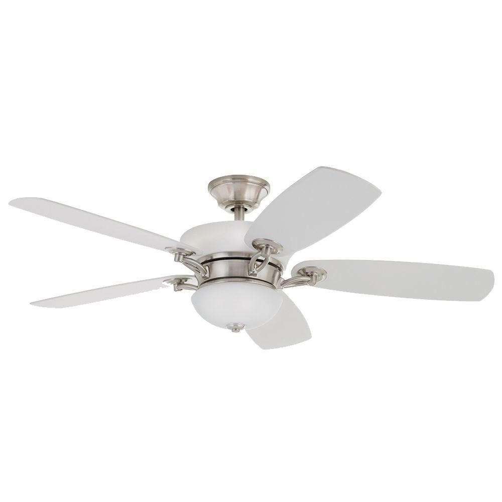 Home decorators collection chardonnay 52 in indoor brushed nickel home decorators collection chardonnay 52 in indoor brushed nickel ceiling fan with light kit and mozeypictures Images