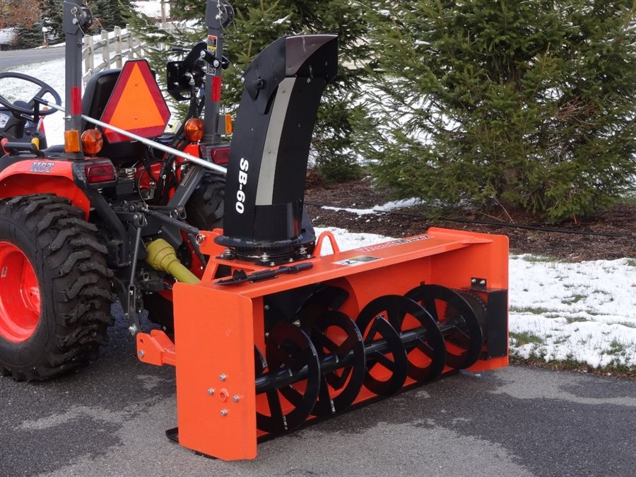 Kubota Three Point Hitch Snowblowers : Pto snow blower attachment stage