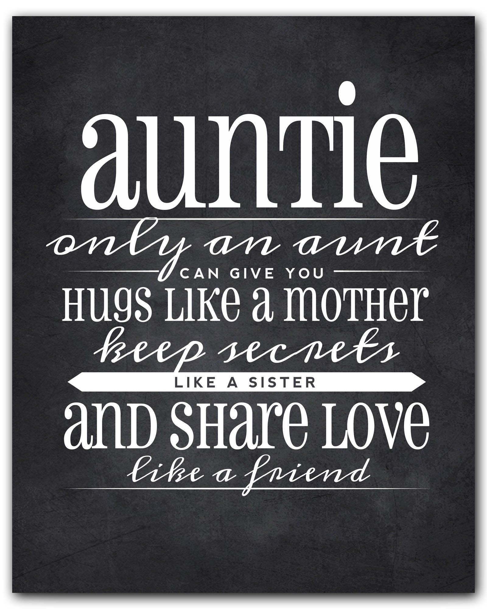 Auntie Gift, Auntie Quote Sign, Auntie Quote Chalkboard Wall Art, Best Auntie Gift, Aunt Gift from Niece, Aunt Quote by Ocean Drop Designs