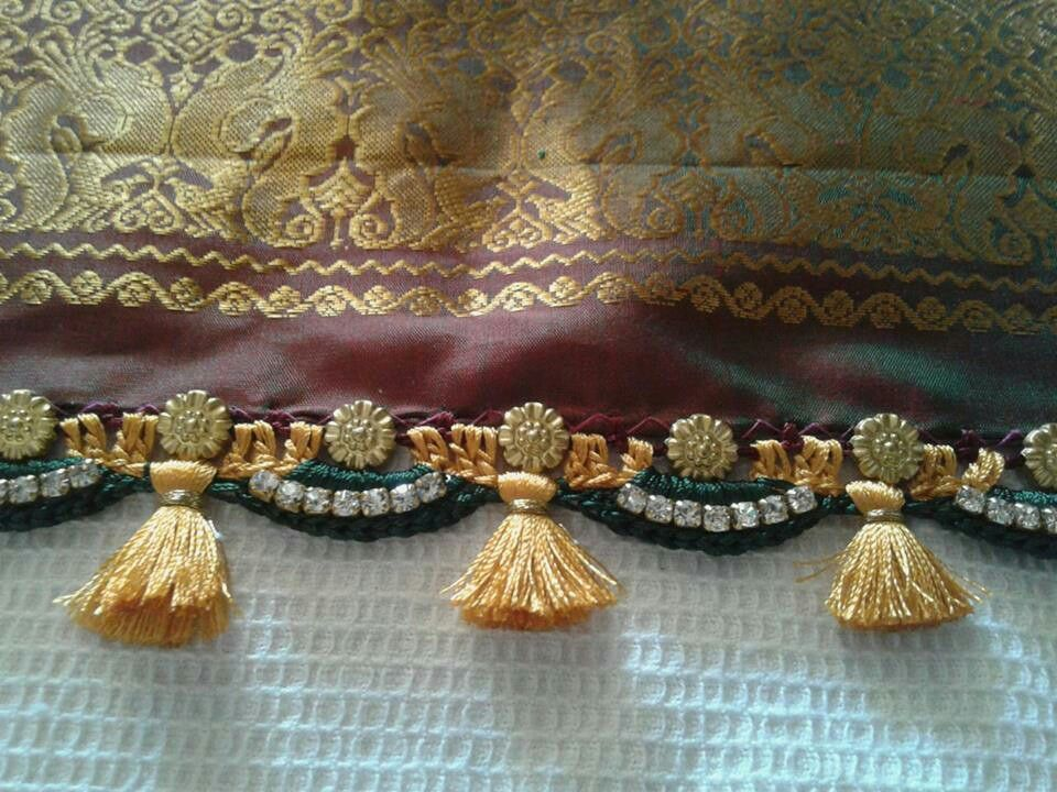 Crochet Lace Patterns For Sarees : Crochet Saree tassels Pinterest Crochet, Saree and ...