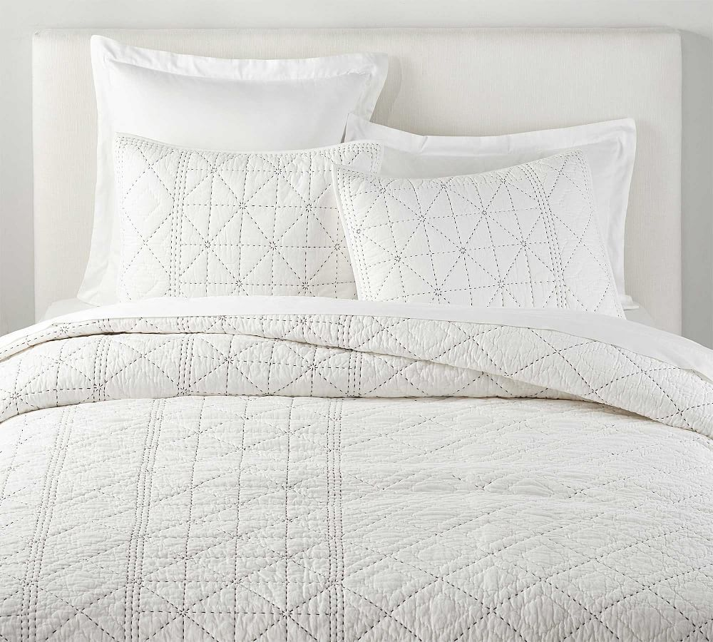 The Emily Meritt Pickstitch Organic Cotton Quilt Shams Cotton Duvet Cotton Quilts Cotton Bedding