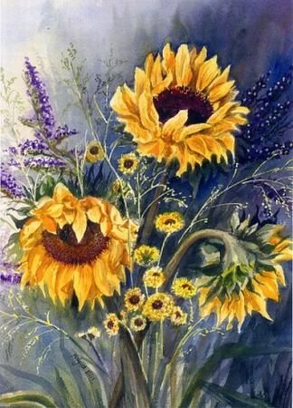 Sunflower Bouquet, I. Miscellaneous, Margaret Ellis, SAA Professional Members' Galleries