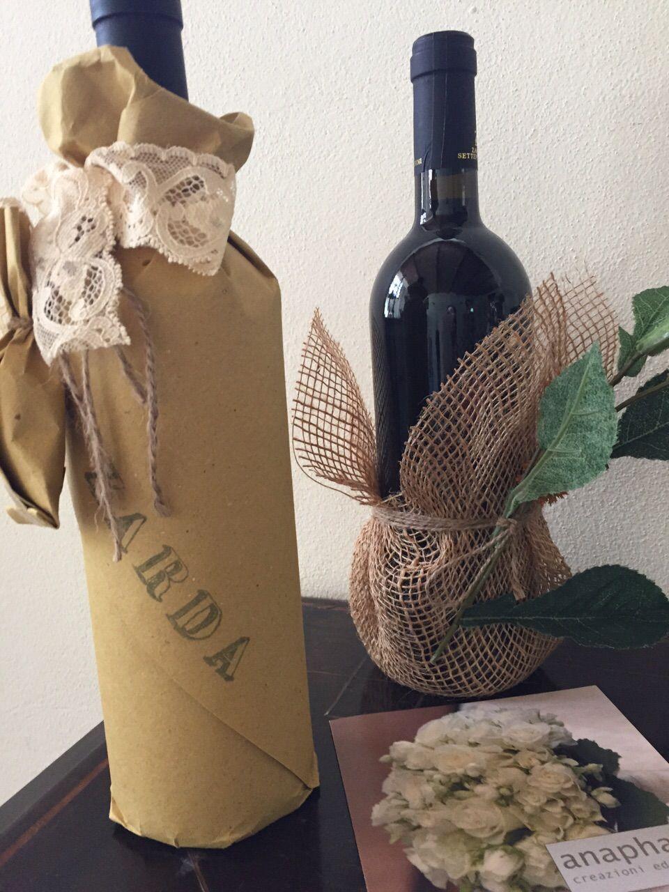 Bomboniere con il vino Zarda (Anaphalis)