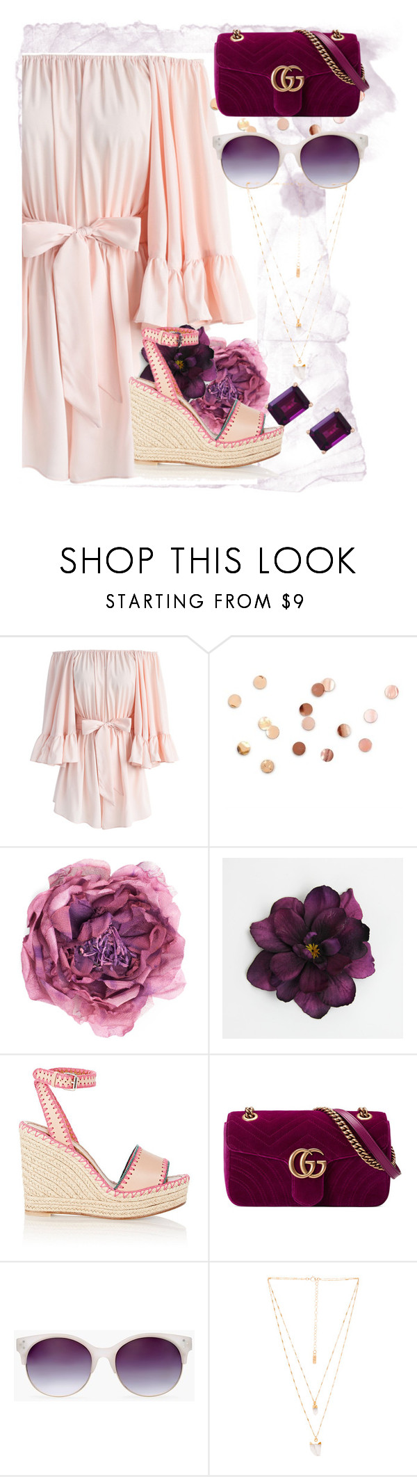 """""""summer outfit"""" by aletraghetti on Polyvore featuring moda, Chicwish, Umbra, Gucci, Valentino, Chico's, Natalie B y Effy Jewelry"""