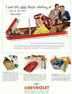 Late 1940 Chevrolet ad.