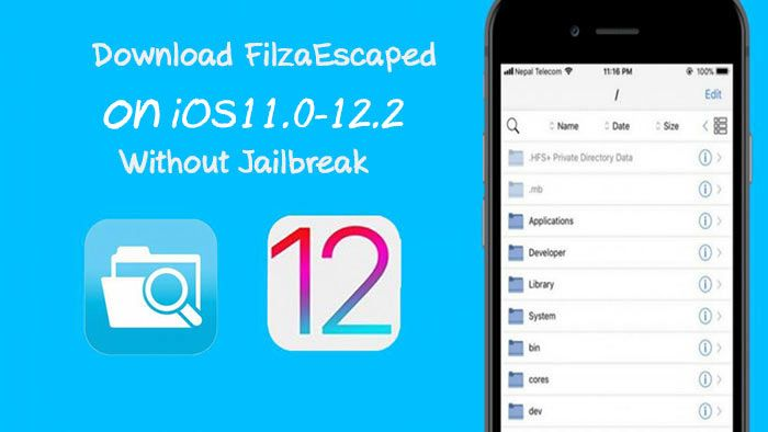 Download FilzaEscaped iOS11.012.2 For iOS Without