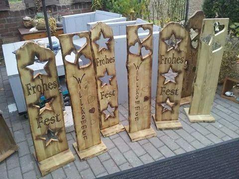 eulen deko weihnachtsdeko holz deko ideen holzstamm baumrinde namensschild weihnachten holzkunst naturmaterialien - Weihnachtsdeko Ideen Holz