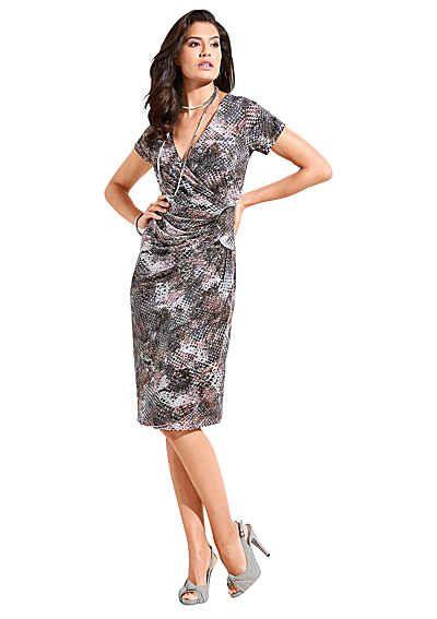 Lady Kleid in fließender Jersey-Qualität | Wrap Dress | Pinterest ...