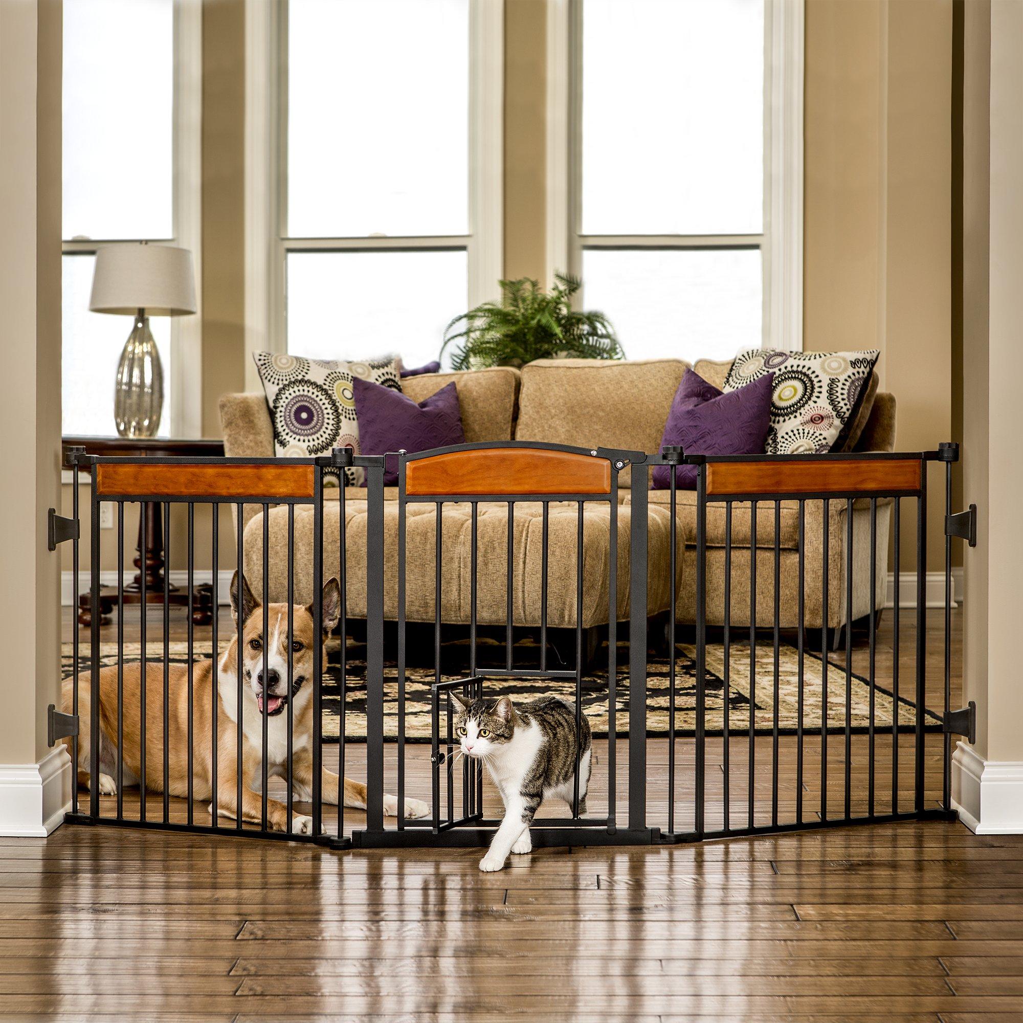 Carlson design paw arched flexi pet gate petco pet