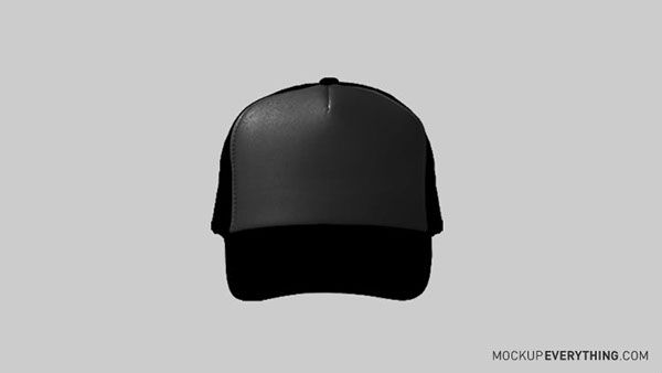 free trucker hat template on behance free psd mockups pinterest
