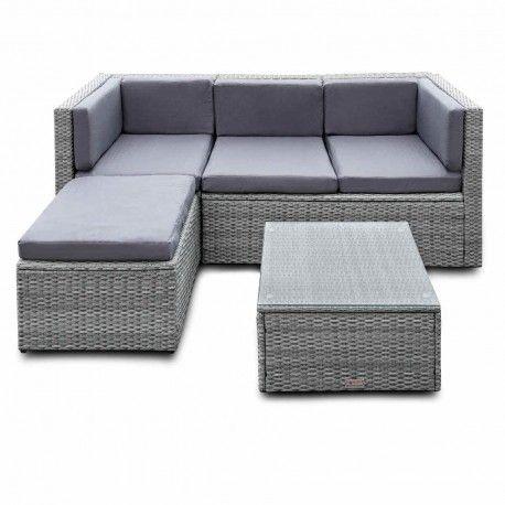 Lounge Garnitur Sitzgruppe Garten Gartenmöbel Polyratten Rattan