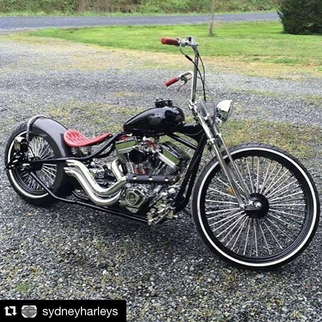 Custom Built Harley Davidson Bobber Chopper Bikes Old School Motorcycles And Apparel Inspi Harley Bobber Old School Motorcycles Harley Davidson Motorcycles