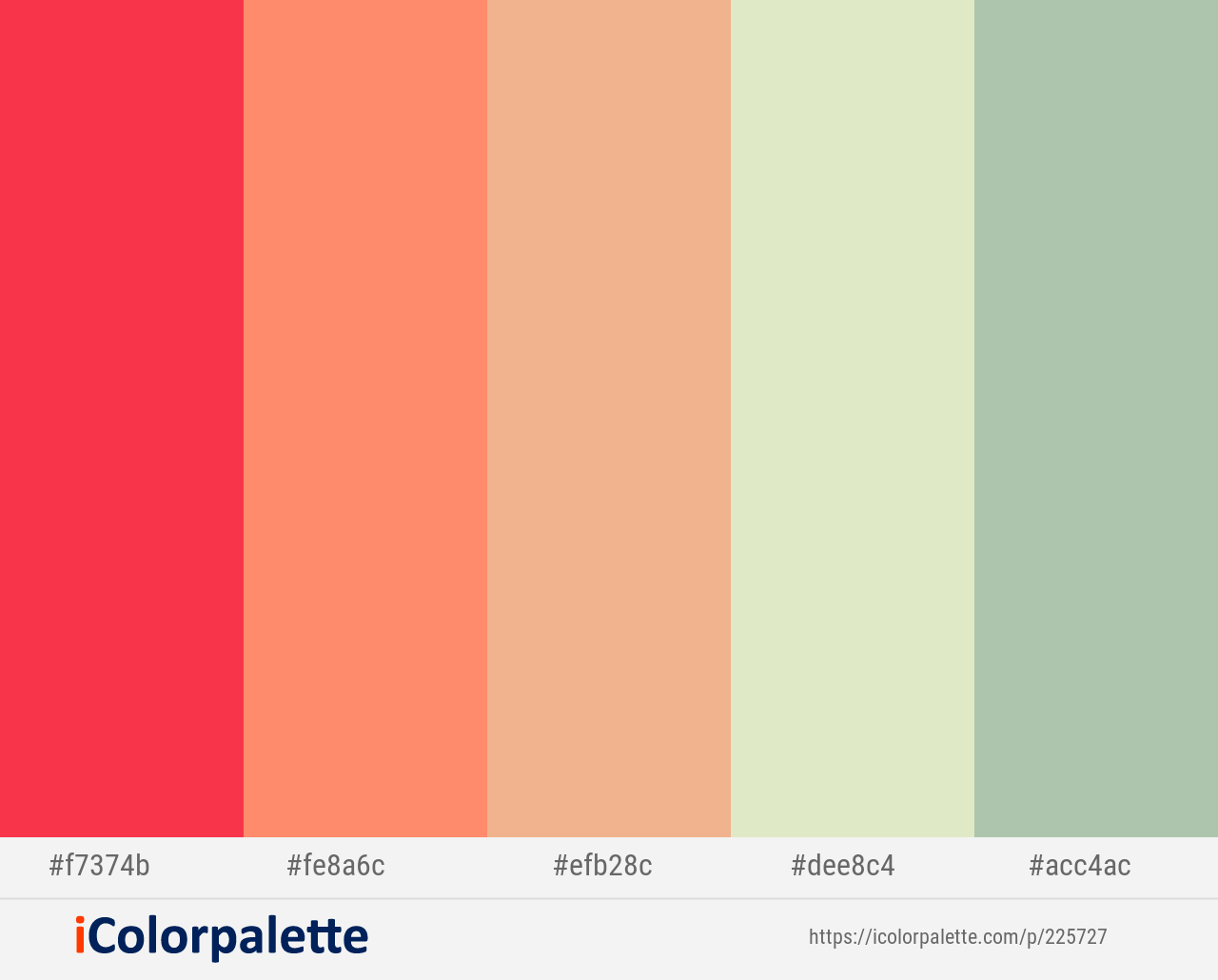 Coral Red Salmon Tacao Beryl Green Spring Rain Color Scheme Icolorpalette Color Palette Pink Handmade Inspiration Color Schemes