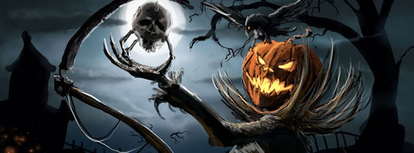 Image Result For Spooky Halloween Scenes Halloween Facebook Cover Halloween Cover Photos Timeline Cover Photos