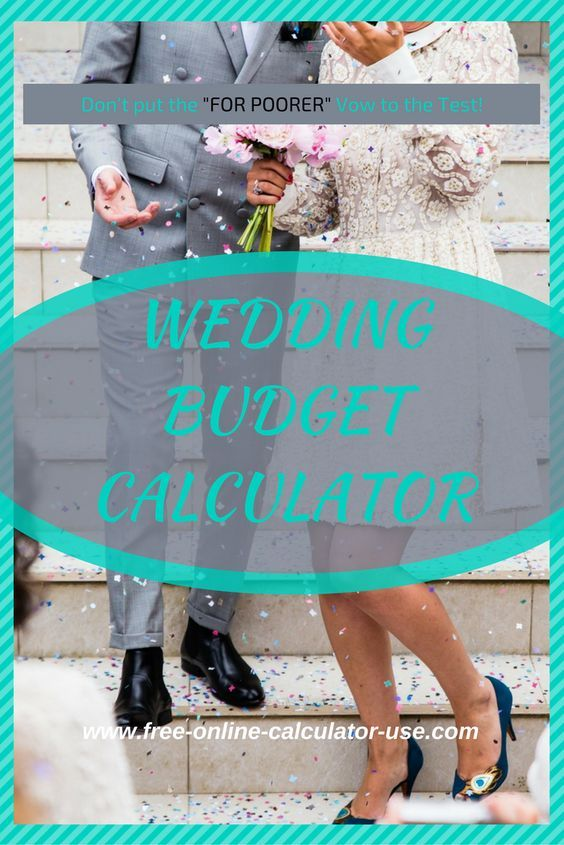 This free online Wedding Budget Calculator will help you when - sample wedding budget