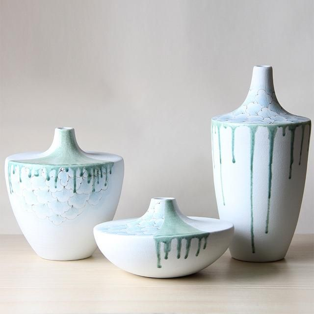 Buy Dripping Ceramic Porcelain Tabletop Vase Set At Lifeix Design
