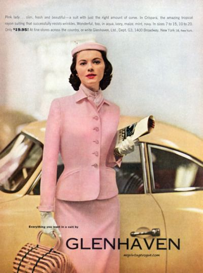 As if I didn't already want a pink vintage skirt suit enough! I even want the hat box and car.