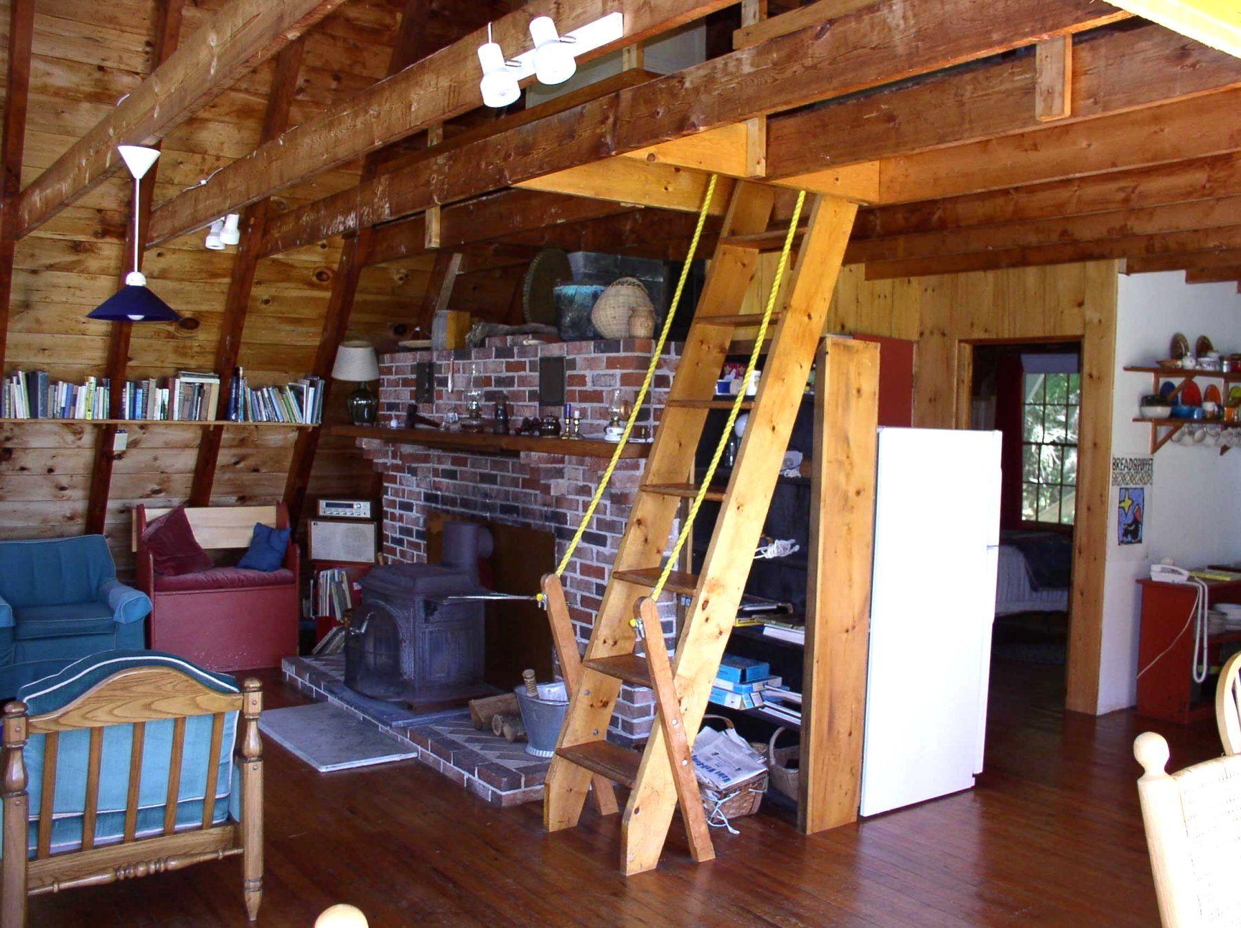 Http Www Morseriver Com A Frame Loft Ladder Jpg Tiny House Loft Loft Ladder Tiny House Stairs