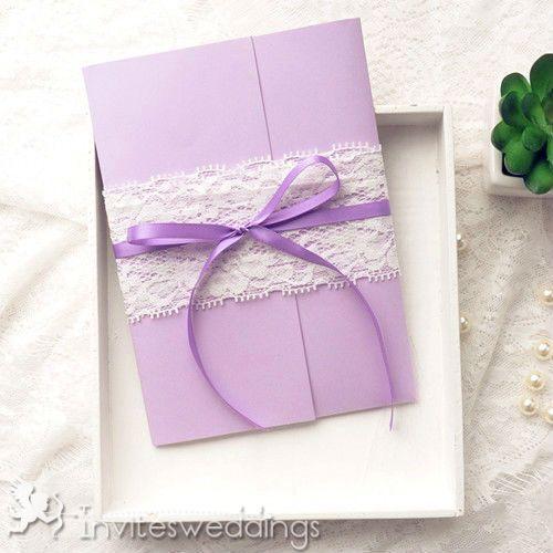 Elegant Light Butterflies Pocket Wedding Cards IWPI025 Invitations Online InvitesWeddings
