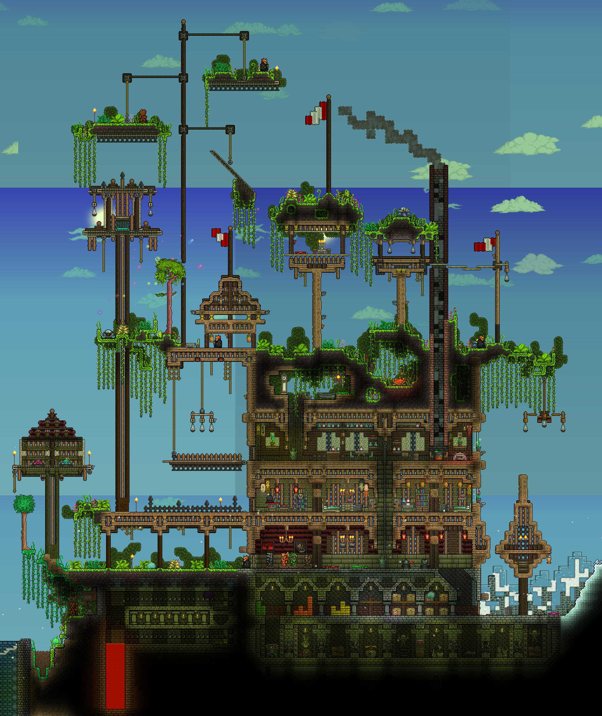 Pin By Rhyan Wachal On Terraria House Ideas To Build