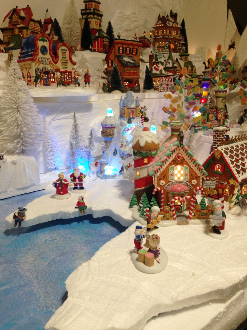 Christmas Village Platform.2015 Department 56 North Pole Village Christmas Village