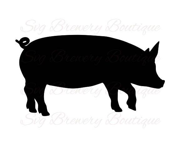 Pig Farm Animal Pork Piglet Bacon Svg Png Dxf For Etsy Fish Silhouette Farm Animals Animals