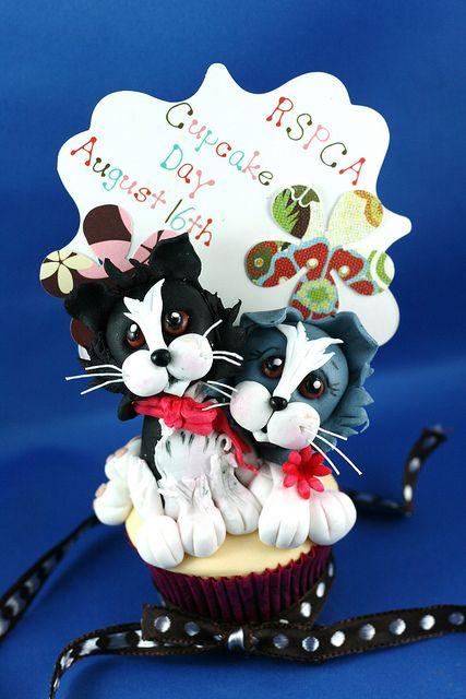 RSPCA cupcake by kylie lambert (Le Cupcake), via Flickr