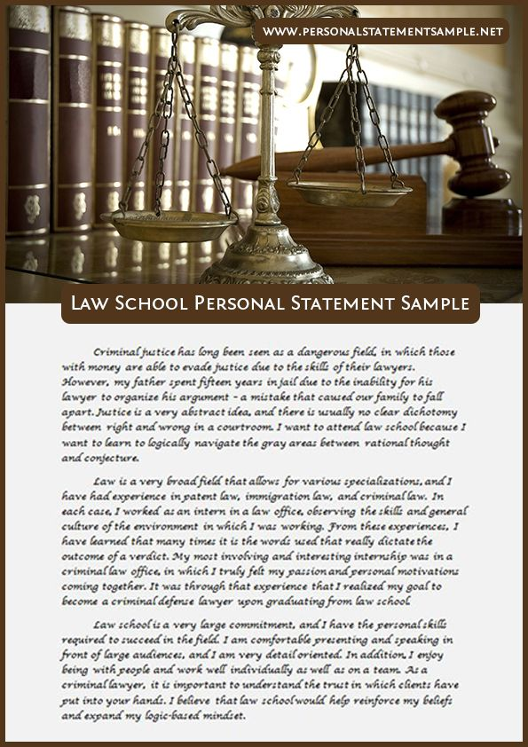Law School Personal Statement Sample  Personal Statements