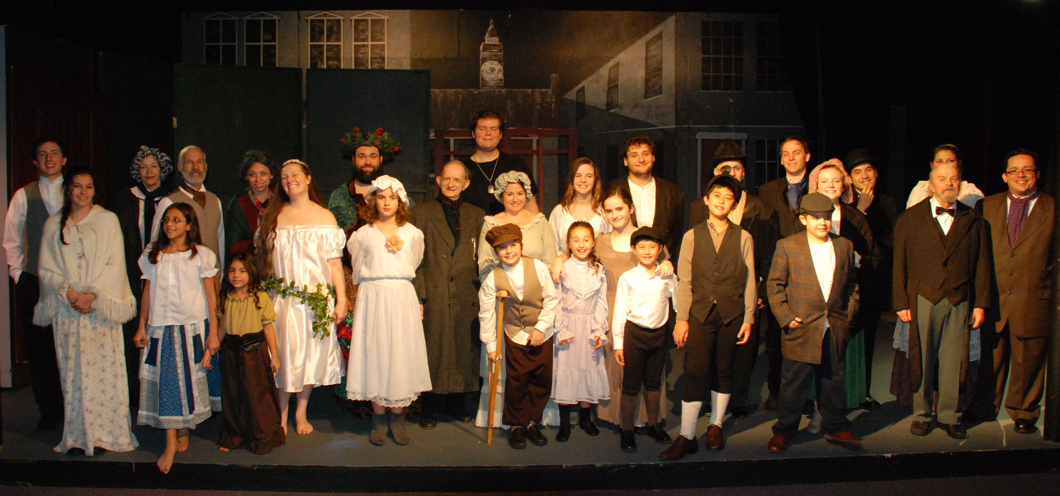 Full Cast and DIrector Thomas Meek Christmas carol