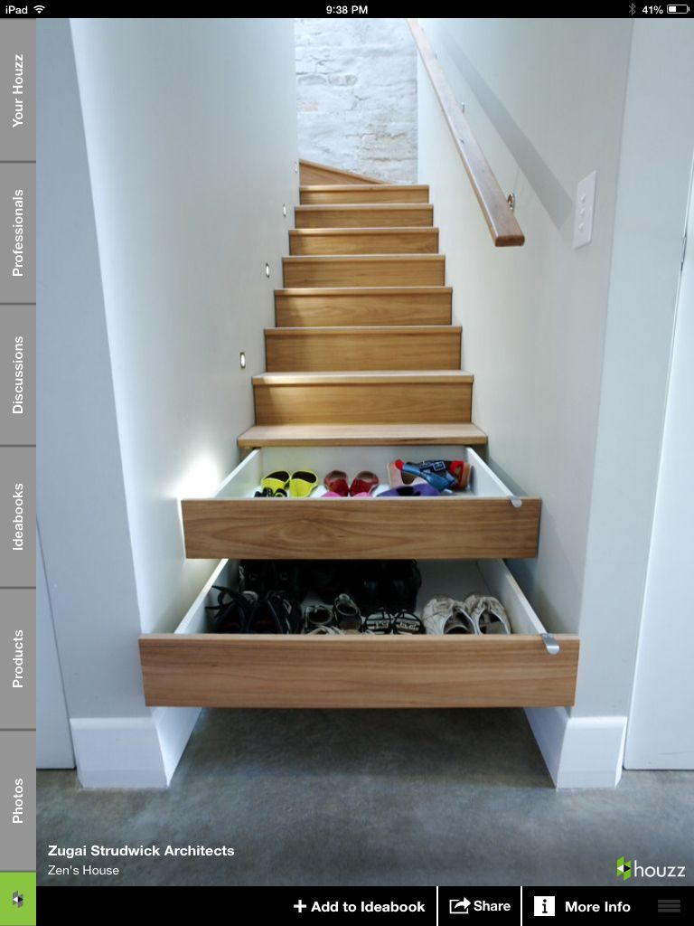 What a cool idea to get storage space!