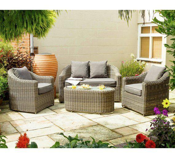 Buy Bunbury Rattan Garden Sofa Set At Argos Co Uk Your Online Shop For Garden Table And Chair Sets Garden Furnitu Patio Sofa Set Garden Sofa Set Garden Sofa