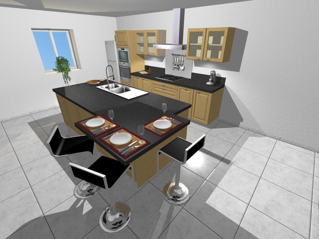 Logiciel Pour Conception Cuisine dessin de cuisine rendu 3d photo - kitchen design conception