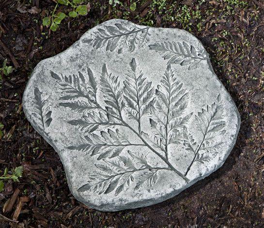Fossil Fern Stepper cast stone stepping stone made by Campania International