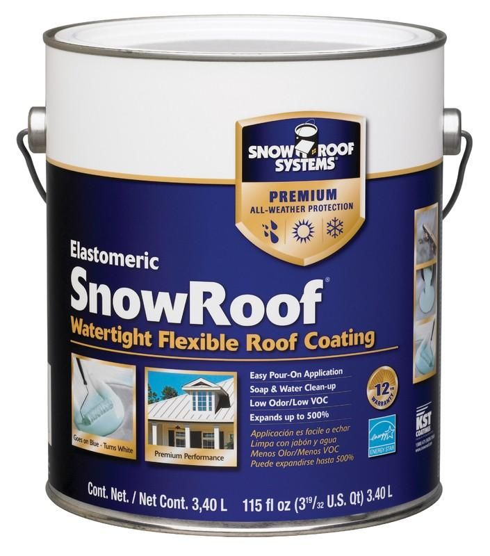 Snow Roof Kst000srb 16 Flex Ible Roof Coating 1 Gallon Roof Coating Liquid Roof Roofing Systems