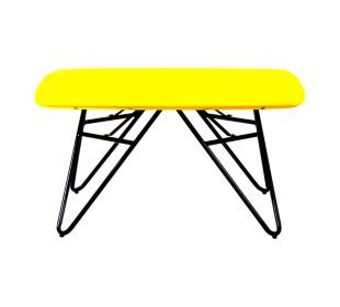 Fly Table Basse Plateau 80x80 Cm Jaune Table Basse Table Basse Fly Table Basse Plateau