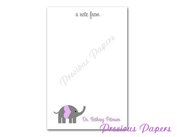 Hey, I found this really awesome Etsy listing at https://www.etsy.com/listing/176562345/personalized-elephant-note-pads