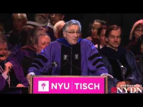 """Lo habéis conseguido... ¡estáis jodidos!"" Robert De Niro gives amazing graduation speech to NYU  art grads"