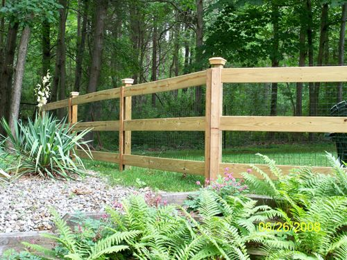 Rail Fence | Post & rail paddock fencing and field gates ...