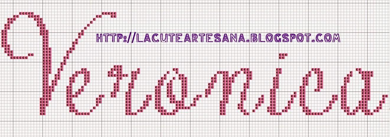 La Cute Artesana: Punto de Cruz: gráfico gratis | puntadas ...