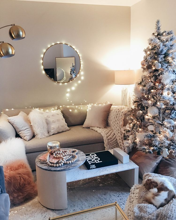 Cozy Living Room Decorated For Christmas Home Decor Farm House