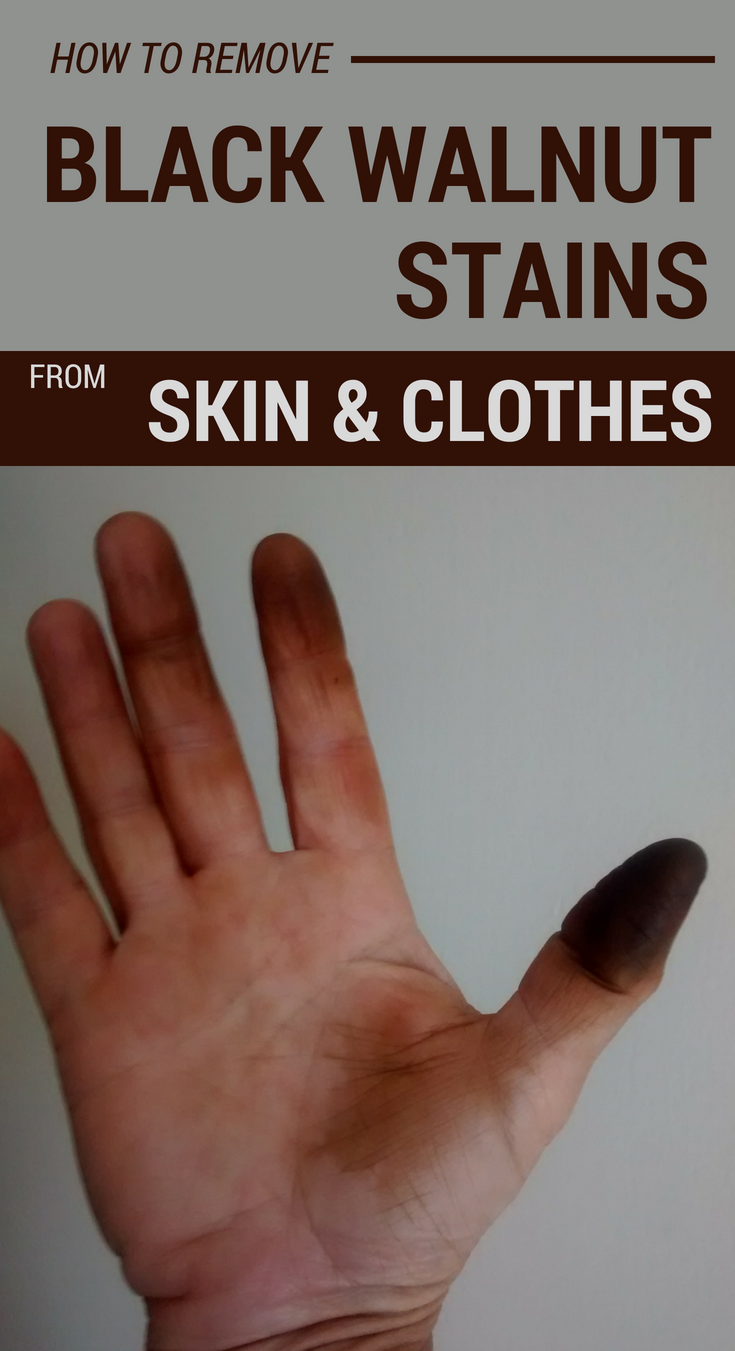 How To Remove Black Walnut Stains From Skin And Clothes 101cleaningtips Net Walnut Stain Cleaning Hacks House Cleaning Tips