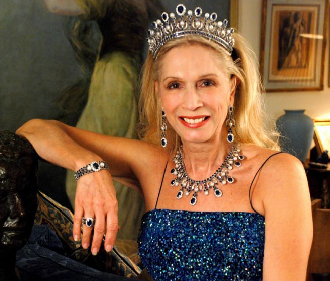 Lady Colin Campbell And Her Sapphires Royal Tiaras