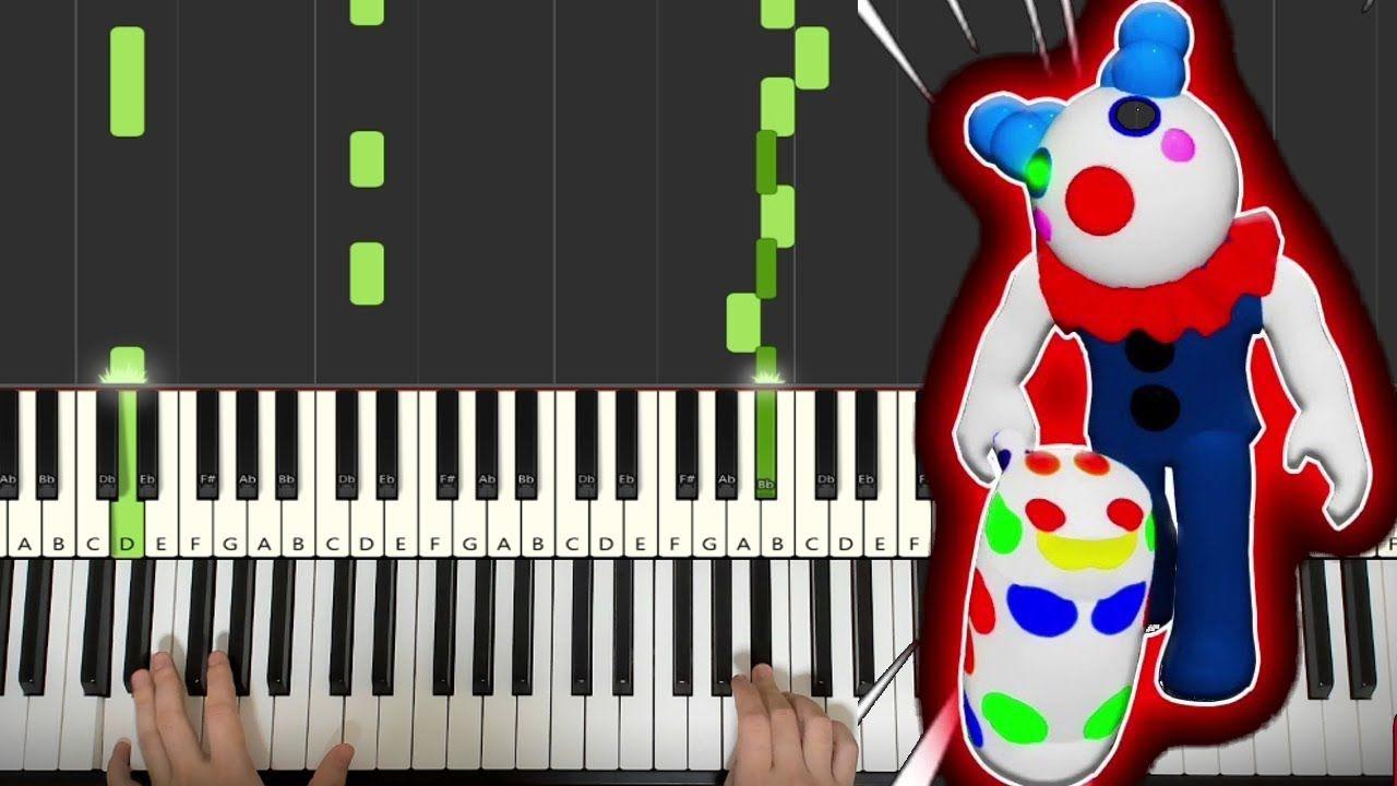 Piggy Roblox Clowny Soundtrack Piano Tutorial Lesson In 2020 Piano Tutorial Roblox Soundtrack