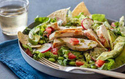 East-Meets-Southwest Chicken Tostada Salad