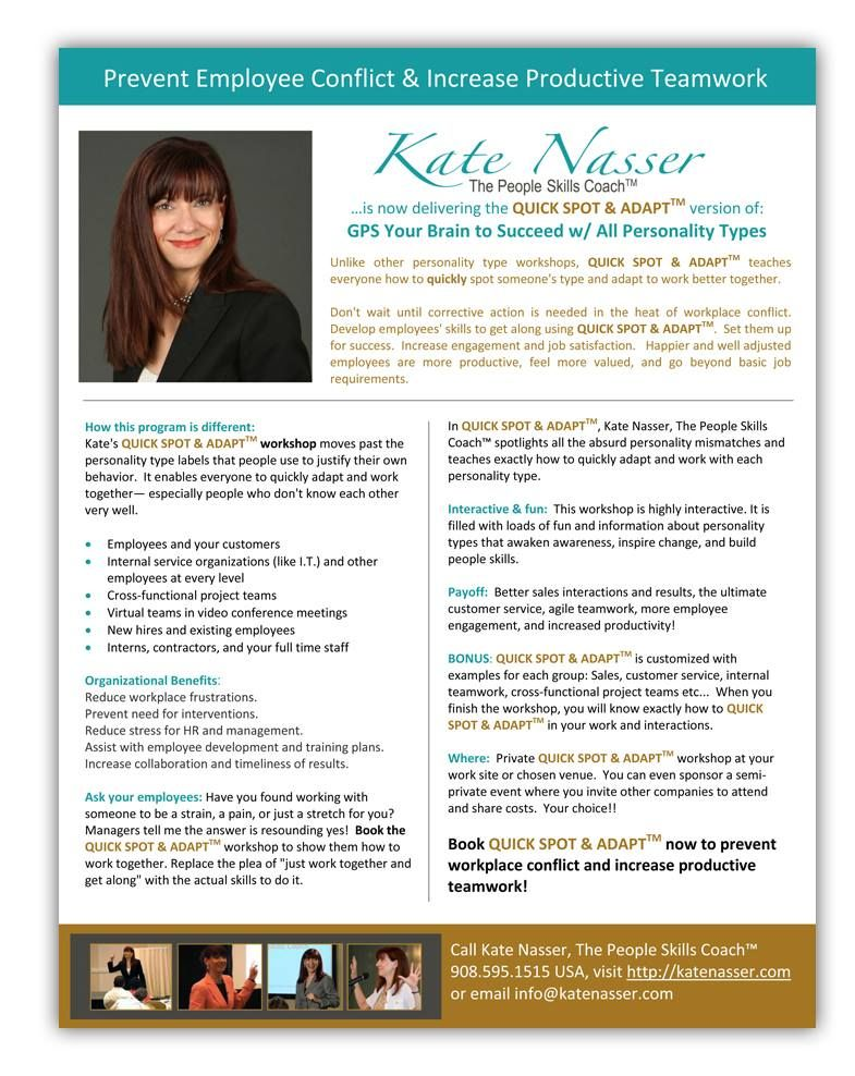 New Design For My Friend Kate Nasser, A One Sheet To Promote Her   Job  Job Sheets Examples