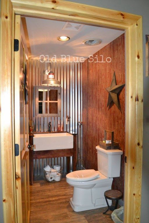 Old Blue Silo: Barnhouse Tour: Barn Inspired Half Bath … | 2 story ...