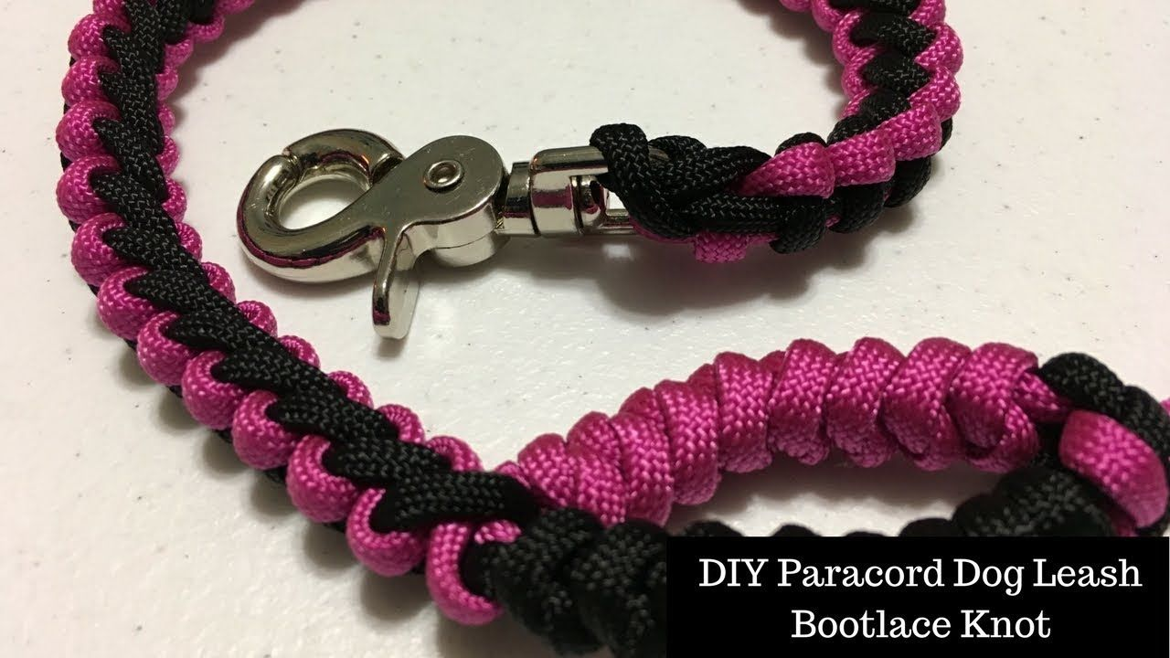 DIY Paracord Dog Leash Bootlace Knot Handle Paracord