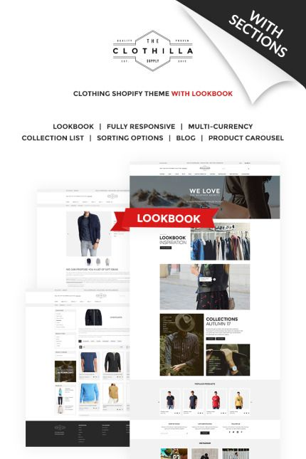 Trendy Clothing Online Store #Shopify #template. #themes #business ...