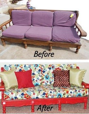 The Polka Dot Umbrella Green Week Couch Refinish Sofa Makeover Couch Makeover Furniture Makeover