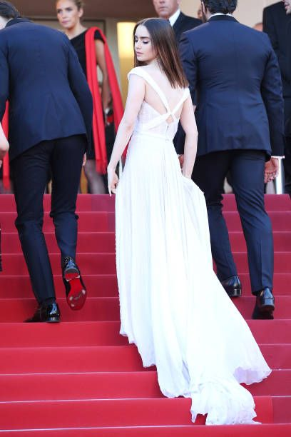 472f277c8e Actress Lily Collins attends the  Okja  screening during the 70th annual  Cannes Film Festival at Palais des Festivals on May 19 2017 in Cannes France